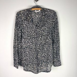 Anthropologie Hei Hei Day Trip Printed Button Up